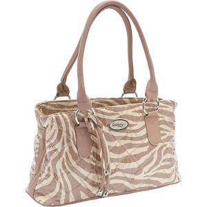 Reese Bag, Tan Zebra