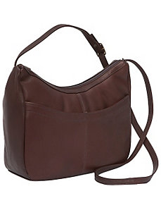 Top Zip Hobo With Front Open pocket by David King & Co.