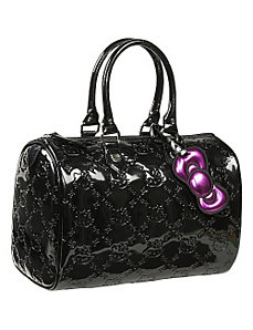 Hello Kitty Black Embossed City Bag by Loungefly