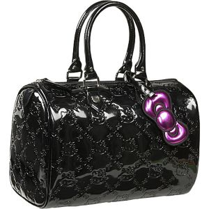 Hello Kitty Black Embossed City Bag