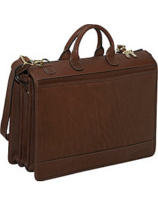 Saddle Collection Triple Gusset Top-Zip Laptop Briefcase by Jack Georges