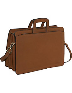 Belting Collection Triple Gusset Top Zip Briefcase by Jack Georges