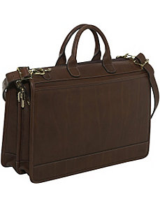 Saddle Collection Double Gusset Top-Zip Laptop Briefcase by Jack Georges