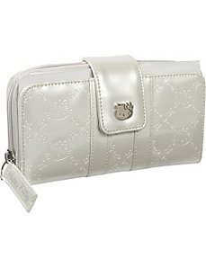 Hello Kitty Ivory Patent Embossed Wallet by Loungefly