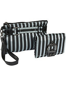 Stripe Cosmetic Wristlet and Wallet by Sydney Love