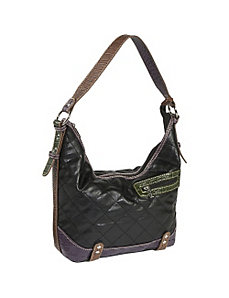 Quilted with Croc Trim-Hobo by Sydney Love