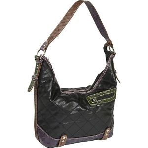 Quilted with Croc Trim-Hobo