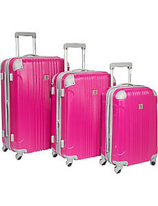 Malibu 3 Piece Hardside Spinner Luggage Set by Beverly Hills Country Club