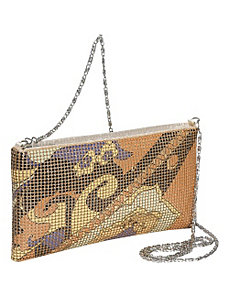 Floral Mesh East-West Shoulder Bag by Magid