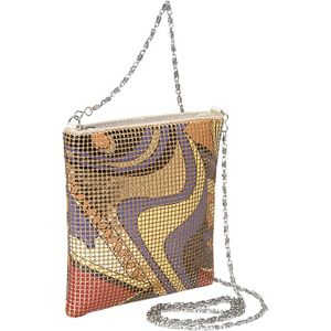 Floral Metal Mesh Small Crossbody