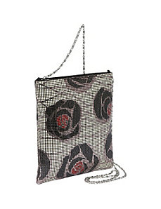 Floral Mesh Large Crossbody Bag by Magid