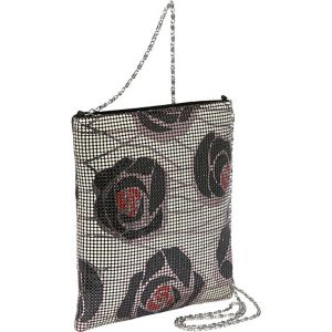 Floral Mesh Large Crossbody Bag