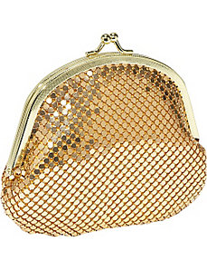 Metal Mesh double coin purse by Magid