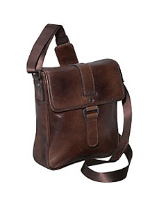 Rustic Buckle Shoulder Bag by Dr. Koffer Fine Leather Accessories