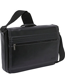 'A Stitch In Time' Leather Messenger Bag by Kenneth Cole Reaction