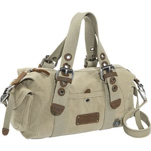 Khaki Canvas Satchel