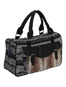 Sweater Knit Faux Fur Satchel by Ashley M
