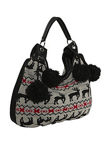 Sweater Knit Hobo Bag by Ashley M