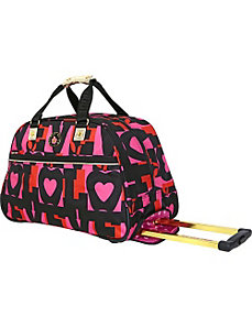 Love Wheeled Duffle by Double Dutch Club Luggage