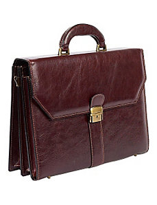 Italiano Leather Briefcase by ClaireChase