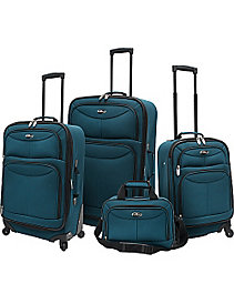 4 Piece Exp Spinner Luggage Set by U.S. Traveler