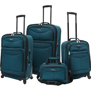 4 Piece Exp Spinner Luggage Set