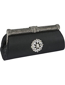 Silk Evening Clutch with Broach by Moyna Handbags