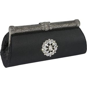 Silk Evening Clutch with Broach