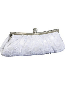 Lace over Frame Clutch by Jessica McClintock