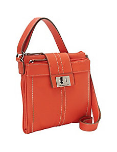 Fab Function Pebble Leather N/S Crossbody by Tignanello