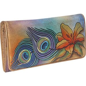 Accordion Flap Wallet - Peacock Lily