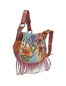 Fringed Flap Saddle Bag - Flying Jewels by Anuschka