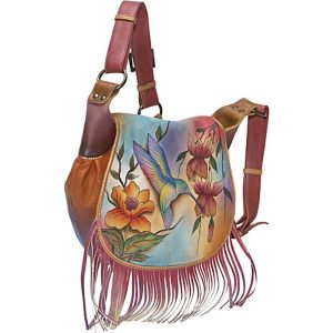 Fringed Flap Saddle Bag - Flying Jewels