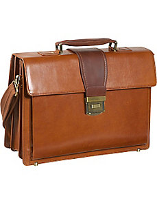 Two-Tone Charisma Laptop Briefcase by AmeriLeather