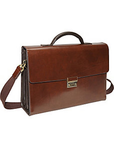 Two-Tone Efficiency Laptop Briefcase by AmeriLeather