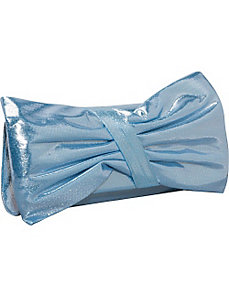 Metallic Bow Clutch by J. Furmani