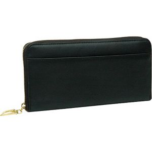 Donington Gold Zip Clutch Wallet