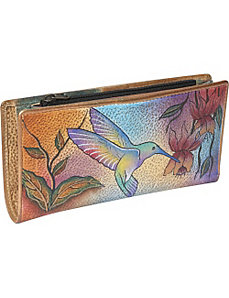 Ladies Clutch Wallet- Flying Jewels by Anuschka