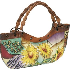 Large Rouched Hobo: Sunflower Safari