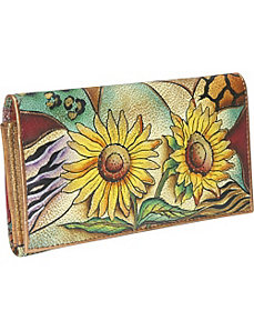Multi Pocket Wallet/Clutch: Sunflower Safari by Anuschka