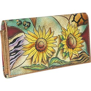 Multi Pocket Wallet/Clutch: Sunflower Safari