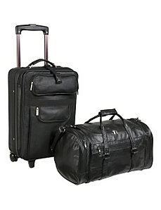 Leather 2 Pc. Carry-On Luggage Set by AmeriLeather