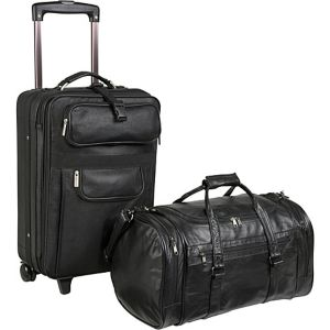 Leather 2 Pc. Carry-On Luggage Set