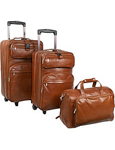 Leather 3 pc. Set Traveler by AmeriLeather