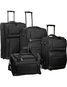 Lightweight 4-Piece Exp. Luggage Set by Traveler's Choice