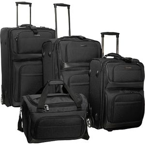 Lightweight 4-Piece Exp. Luggage Set