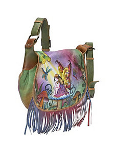 Fringed Flap Saddle Bag - Enchanted Fairy by Anuschka