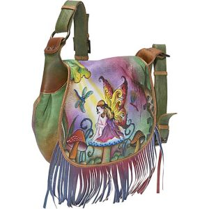 Fringed Flap Saddle Bag - Enchanted Fairy