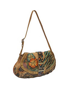 Small Ruched Flap Handbag - Python Safari by Anuschka