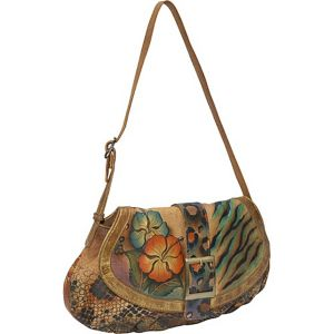 Small Ruched Flap Handbag - Python Safari